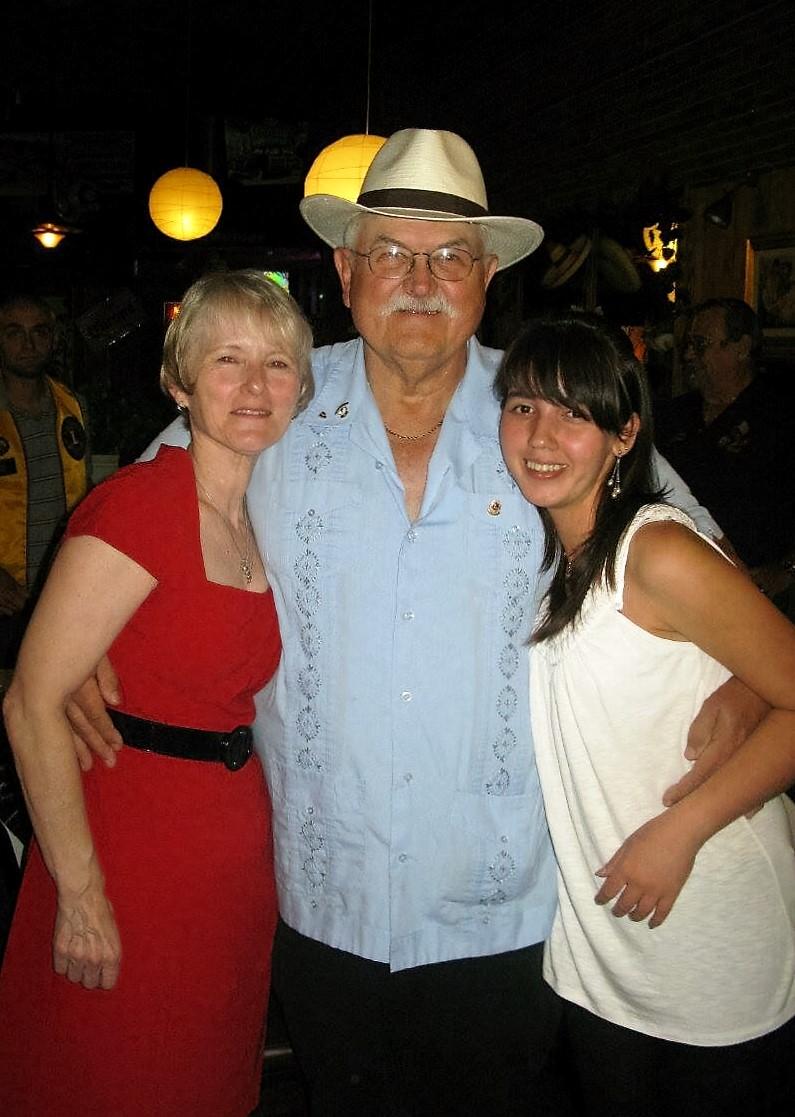 Jim and Susan Boyd with their exchange daughter Gulfiza Ganieva aka today Giza Boyd (2009-2010; Tajikistan/CA)