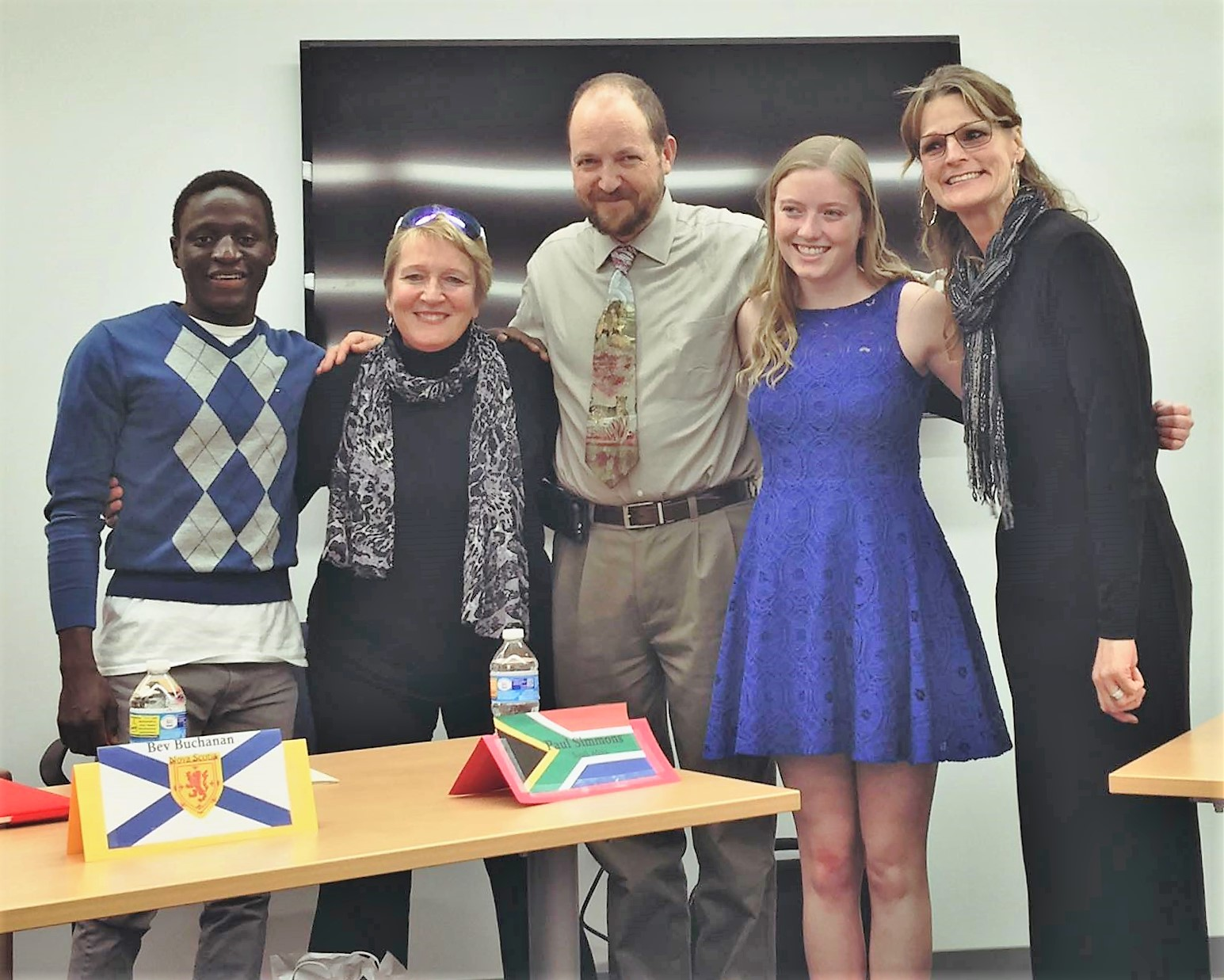 Nehemiah (left) with fellow participants in a Global Deaf Panel.