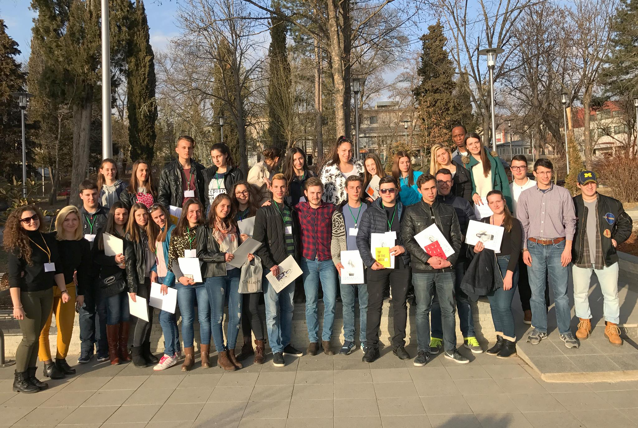 "Participants of Noemi's project ""Tomorrow's Entrepreneurs"""