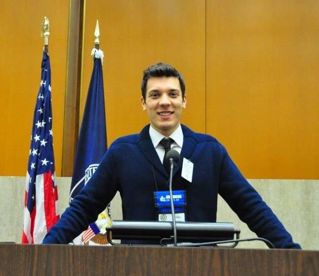 Veljko during the Civic Education Week in Washington D.C. in 2014.