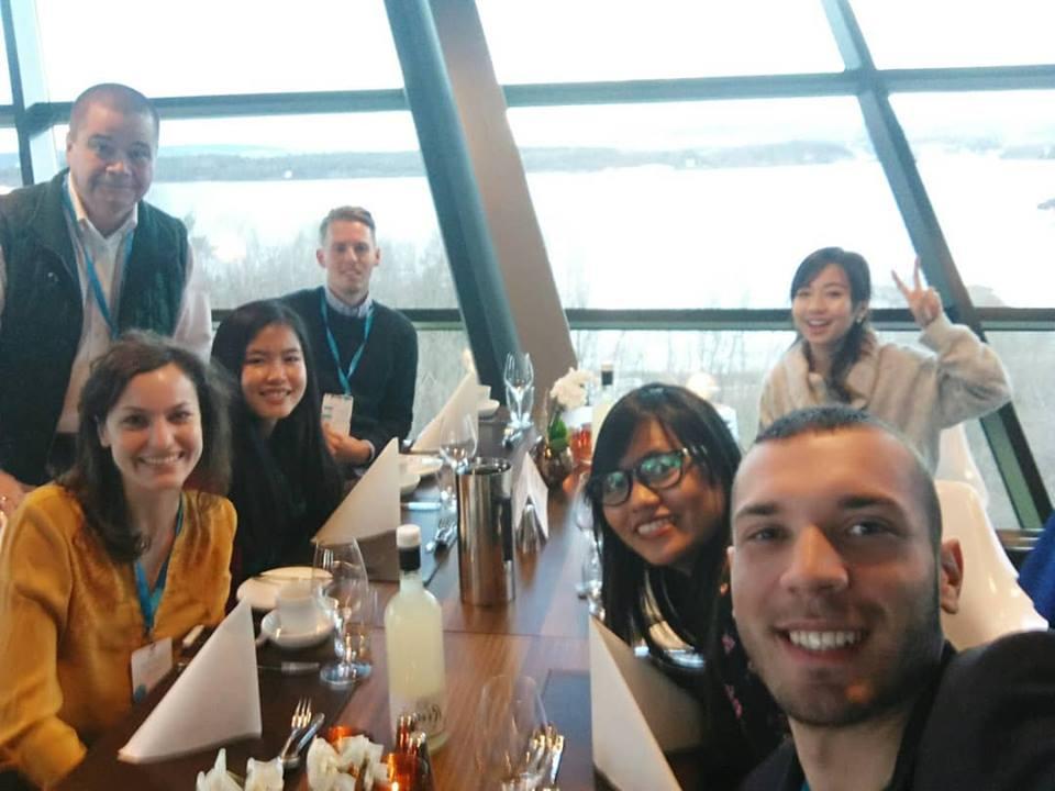 Veljko and his Telenor Youth Forum international team.
