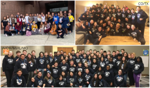 World Link students at their 2020 Midterm and Diversity Immersion Conference