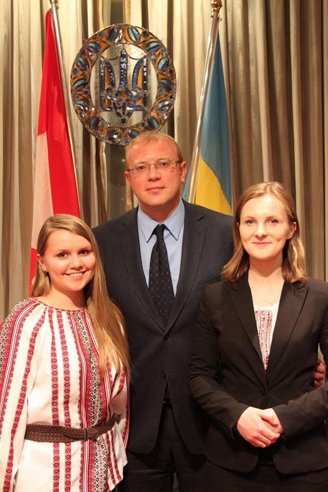 Daria Bataloeva with Canada House of Commons representatives
