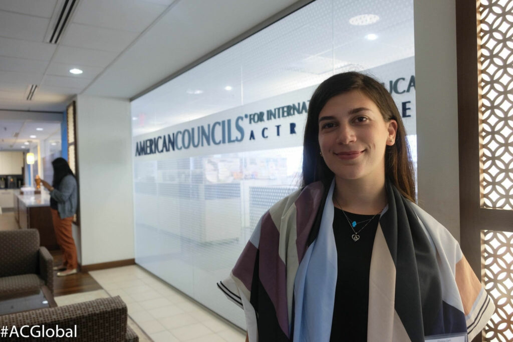 Elvana Qeli at American Councils for International Education Office in Washington D.C.