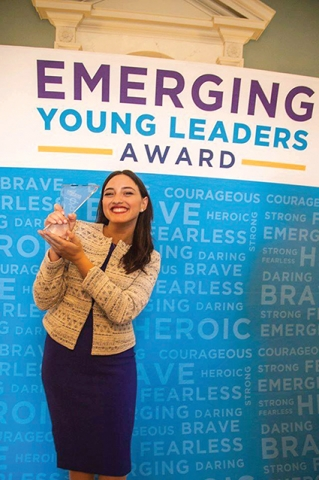 Nino with her Emerging Youth Leaders Award 2016