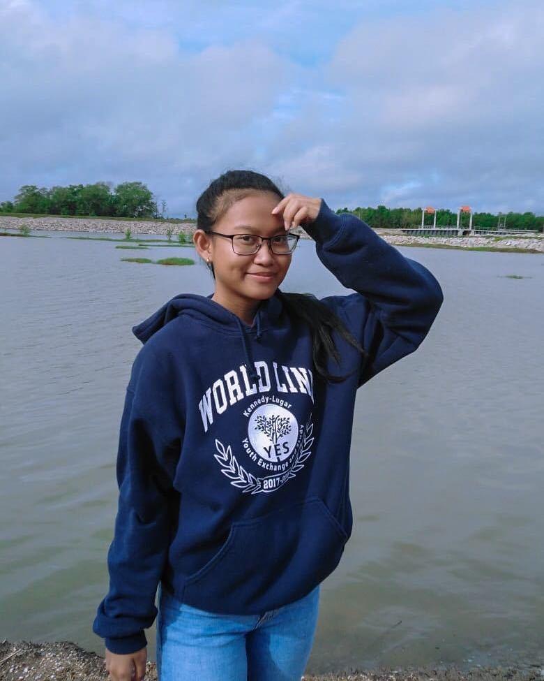 Shae Amatkiran in World Link sweatshirt