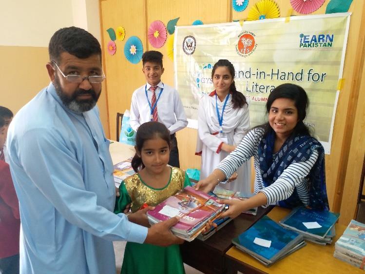 Zartaj Asim Hand for Hand Literacy project
