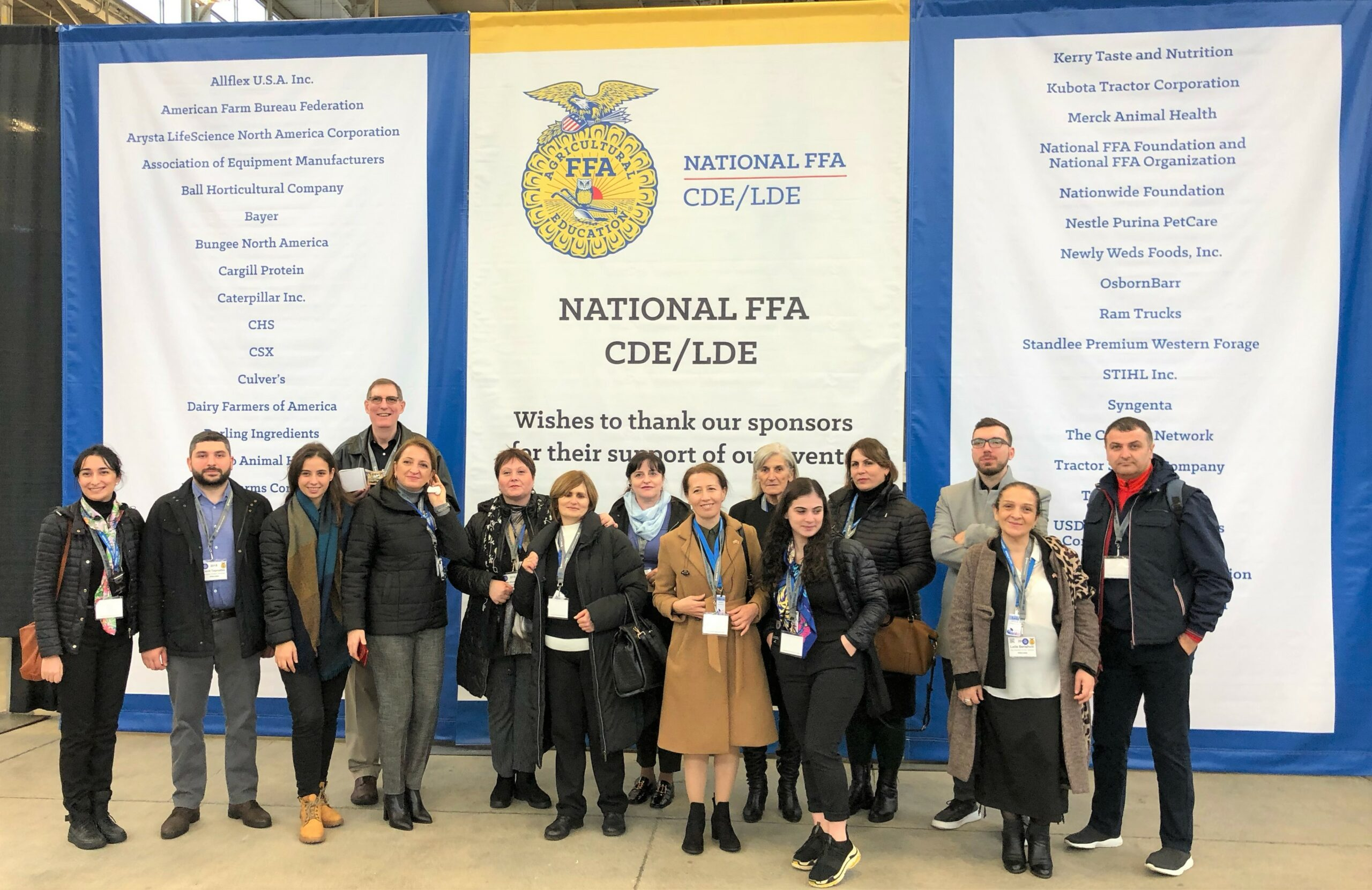 Principals of the two Cultivatoria schools were a part of a delegation from Georgia that attended the National FFA Convention in Indianapolis, Indiana to see career development competitions.