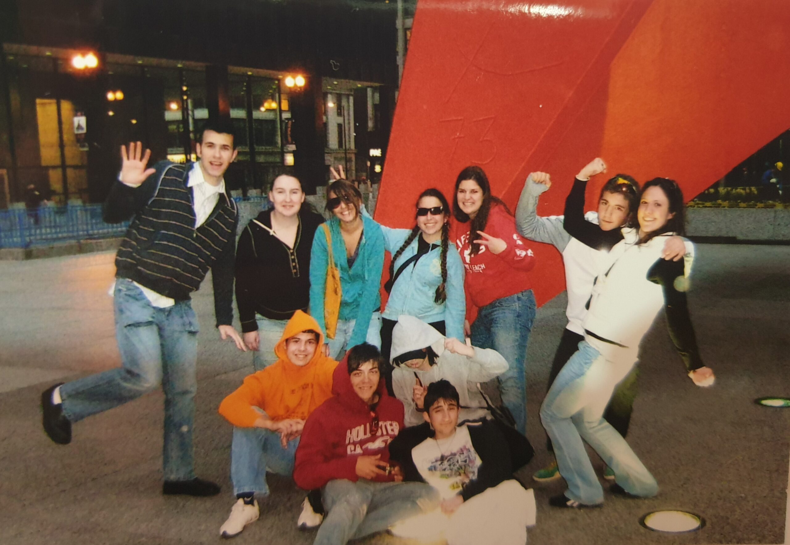 Valentina with other World Link students during a trip to Chicago while on exchange.